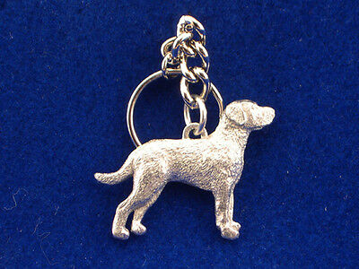 GG Harris Fine Pewter Dog Key Ring Chain & Pouch NEW Chesapeake Bay Retriever