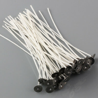 Lots CANDLE WICKS Pretabbed 8 inch Cotton CORE Candle Making 50 to 200 pcs
