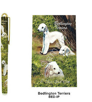 Best Friends by Ruth Maystead NEW Dog Pen Bedlington Terrier