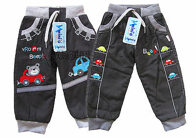 NEW baby boy warm winter soft lined trousers 6 9 12 18 24 months