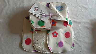 Ladybird! Bamboo & Fleece washable baby wipes pk10 NEW washable nappy wipes