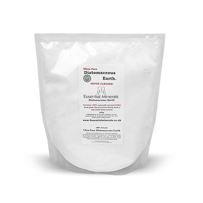 ***2.5 Litres Of Super Fine Codex Food Grade Diatomaceous Earth - 500G Bags.***