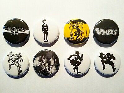 "6 1"" Operation Ivy Lookout Ska Punk Hectic Time Bomb pinback badges buttons"