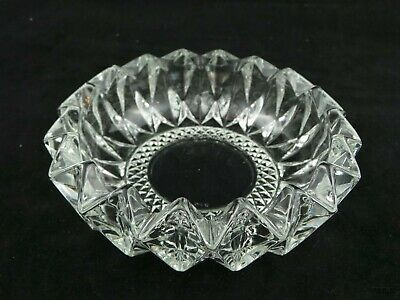 Heavy Round Glass Candy, Coin, Key Dish or Ashtray made in Malaysia