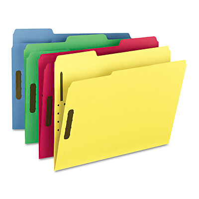 Folders, Two Fasteners, 1/3 Cut Top Tab, Letter, Assorted, 50/Box