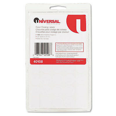 Permanent Self-Adhesive Color-Coding Labels, 3/4'' dia, White, 1008/Pack