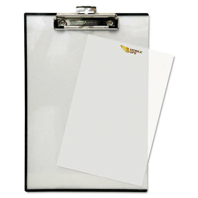 Quick Reference Clipboard, 1/2'' Capacity, 8 1/2 x 11, Clear