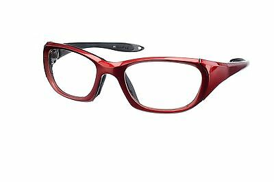 Red Wrap-Around X-ray Radiation Protection Lead Glasses - Model 9941RD
