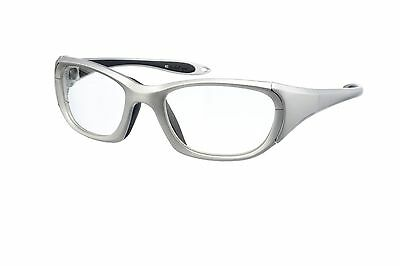Silver Wrap-Around X-ray Radiation Protection Lead Glasses - Model 9941S