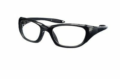 Black Wrap-Around X-ray Radiation Protection Lead Glasses - Model 9941BLK