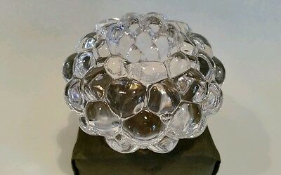 Orrefors clear glass candle holder