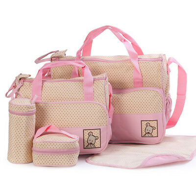 Maternity Bag Tote Bag For Baby Diaper Nappy Pad Bottle Compact Size 5 pcs/set