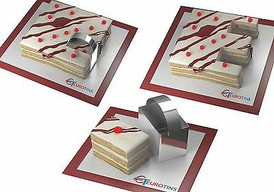 "Rectangle Shape Steel Cookie Cake Slicer / Cutter 3"" Deep with Handle"