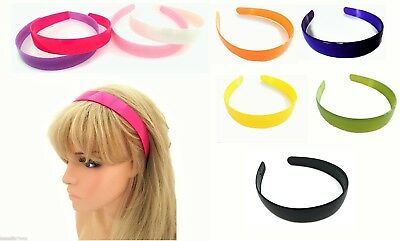 2.5 cm Wide Coloured Plastic Headband Hair Band Alice Band with Teeth