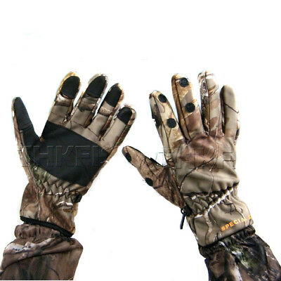 New! Bionic Mossy Oak Thick Warm Camouflage Camo Fishing Hunting Gloves