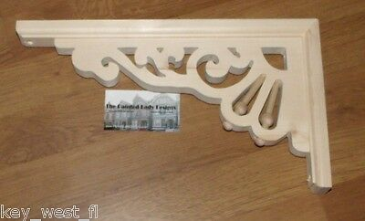 "Victorian Wood Gingerbread Trim Bracket { 13"" x 8"" } Porch & House #28 ~ by PLD"