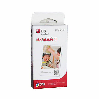 LG Pocket Photo PoPo Zink 30 Sheets Paper for PD239 PD221 PD251 PD269