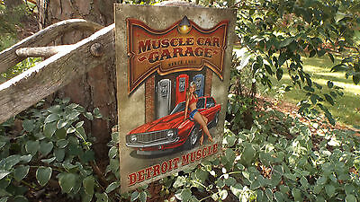 Chevrolet Chevy Camaro '69 1969 Muscle Car Garage Tin Sign Man Cave Wall Decor