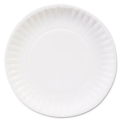 Clay Coated Paper Plates, 6'', White, 100/Pack