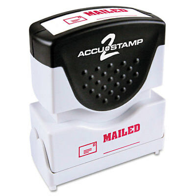 Accustamp2 Shutter Stamp with Microban, Red, MAILED, 1 5/8 x 1/2