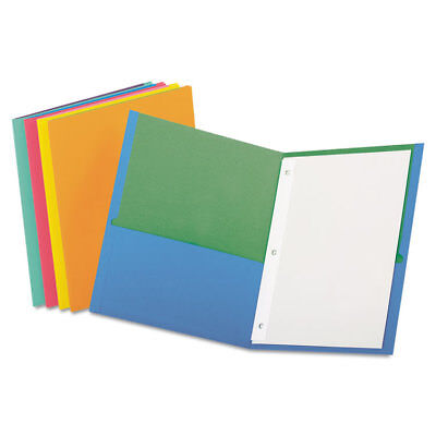 Twisted Twin Pocket Folder with Fasteners, 135-Sheet Capacity, Assorted