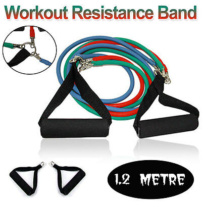 Resistance Bands Yoga Stretch Workout Heavy Duty Crossfit Tubes Fitness Exercise