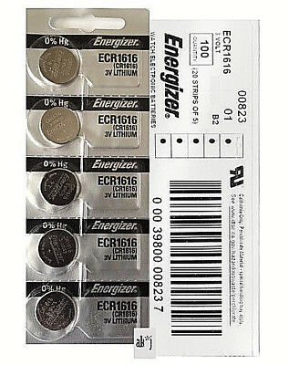 Energizer CR1616 Lithium Coin Cell 3V Fresh Date Code Batteries 10 PC, Exp: 2025