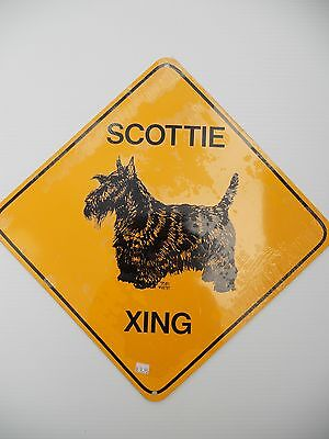 Solid Metal Scottie On Guard Sign NEW Made in USA Scottish Terrier