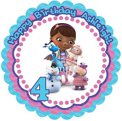DOC McStuffins Round Edible ICING Image Birthday CAKE Topper Decoration