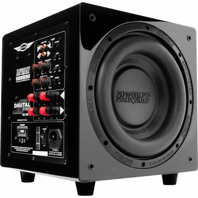 """Earthquake 10"""" Powered Subwoofer 600W Class D Black Piano Lacquer Finish"""