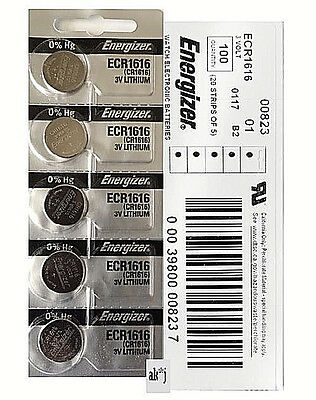 35 PCs Energizer CR1616 Lithium Coin Cell 3V Fresh Date Code Batteries Exp: 2025