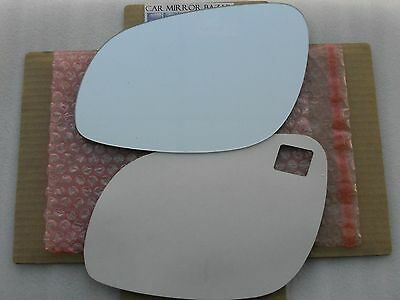 710LF 02-06 PORSCHE CAYENNE Mirror Glass Driver Side Left + ADHESIVE *SEE NOTES*