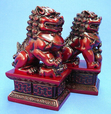 Feng Shui Red Fu Dogs, Foo Dogs