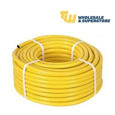 50 Metre Yellow Garden Hose Pipe - 50M Reinforced Anti-kink Water Hosepipe