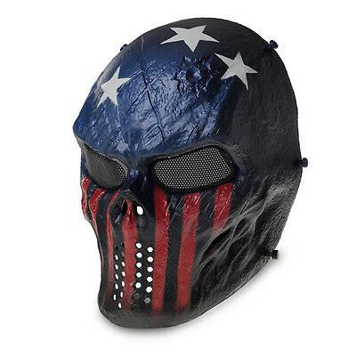 Airsoft Paintball Tactical Full Face Protection Skull Mask Skeleton Army Outdoor