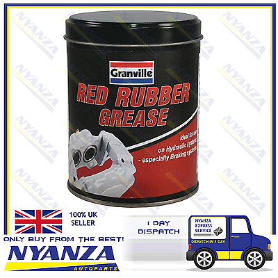 Granville Red Rubber Grease 500g Tin  Hydraulic Systems & Braking Systems
