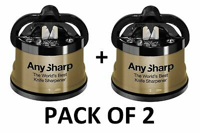 Pack of 2 AnySharp Global GOLD World's Best Knife Sharpener New Genuine UK Stock