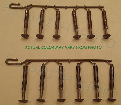 Coffee Brown Shutter Fasteners for Exterior shutters[12 individual fasteners]