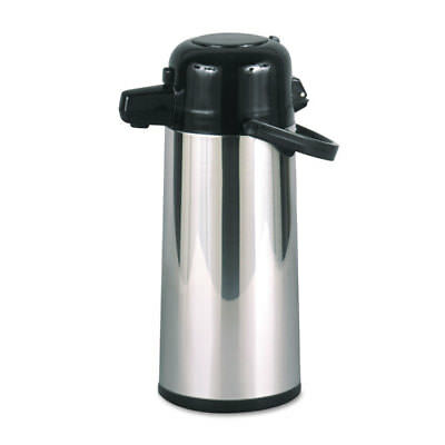 Commercial Grade 2.2L Airpot, w/Push-Button Pump, Stainless Steel