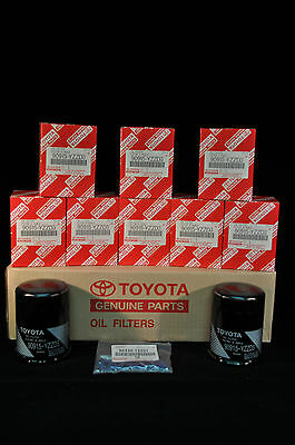 90915-YZZD3, Qty 10, Toyota Oil Filters With Drain Plug Gaskets