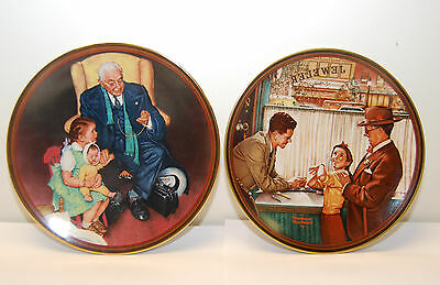 "2 Norman Rockwell Collector's Plates ""A Time to Keep"" & "" Tender Loving Care"""