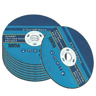 "Pack of 50 x 3""/75mm Cut off Discs for Stainless Steel"