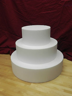 "Cake Dummies - 8""/12""/16"" Round or Square 3 Tier - 4"" Height"