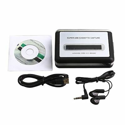 USB Super Cassette-to-MP3 Converter Tape to PC Capture Audio Stereo Music Player