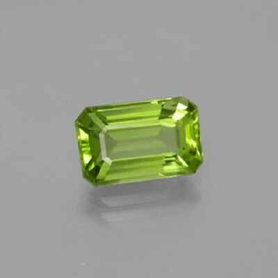 Natural Genuine Peridot Apple Green Color Octagon (5x3mm - 10x8mm) Loose Stone