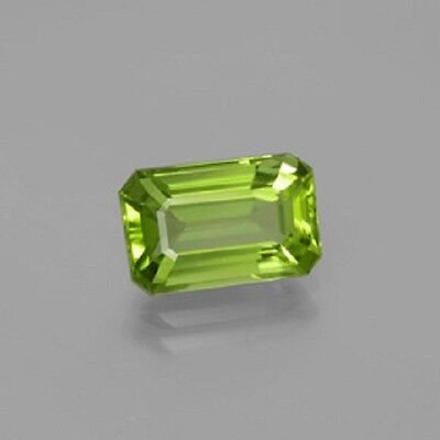 Octagon Faceted Natural Peridot (5x3mm - 10x8mm) Apple Peridot color Loose Stone