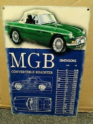 "NEVER UNDERESTIMATE AN OLD MAN WITH A CLASSIC MGB-GT METAL SIGN.8/"" X 8/"""
