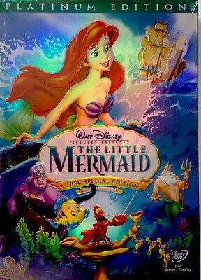 The Little Mermaid (DVD, 2006, 2-Disc Set, Platinum Edition) NEW!