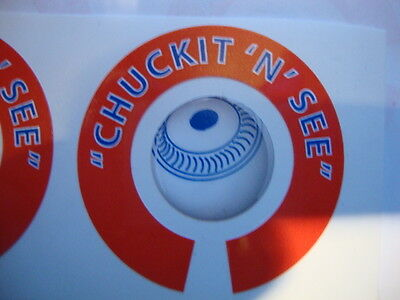 Chuckit N See  16 Crown Green Bowls Stickers Lawnbowls 8 Finger + 8 Thumb Peg