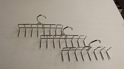 Stainless Steel Smokehouse Bacon Hangers 9 Inch 8 Prong (3 Hangers)